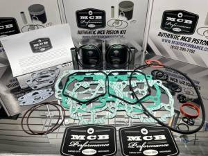 MCB Dual Ring Pistons - Ski Doo MCB 600 NON-HO / 500SS Dual Ring Piston kit with TOP END gasket kit!