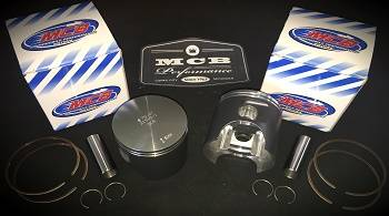 MCB Dual Ring Pistons - Ski Doo MCB 600 NON-HO / 500SS Dual Ring Piston kit with COMPLETE gasket kit! - Image 1