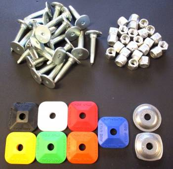 WOODY'S SIGNATURE SERIES STAINLESS STEEL STUDS w/ NUTS & YOUR CHOICE OF BACKERS!
