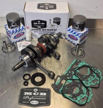 MCB - MCB Stage-2 Crankshaft & Cast Single ring Piston kit w/ Isoflex and seals 500SS / TNT / 600 NON HO Engine rebuild kit - Image 1