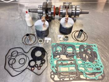 MCB - MCB STAGE-2 Crankshaft & Wossner DUAL RING Piston Kit - SKI DOO 800R XP 2009-and up CARB models only (not ETEC) - Image 1