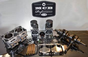 MCB - 2011 Polaris 800 Complete engine rebuild kit with Durability kit - Crankshaft, Cylinder, Piston kit Rush Assault Switchback Pro RMK Stage 3 Rebuild Kit - CAST piston - Image 1