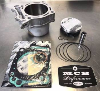 MCB - 2008-2012 Suzuki RMZ450 Wossner Top End Rebuild Kit Replated Cylinder 28HO 1211-28H00-0F0 - Image 1