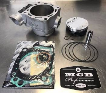 MCB - 2017-20 Honda CRF450R Wossner Top End Piston Rebuild Kit Replated Cylinder 12100-MKE-A50 - Image 1