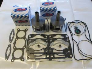 MCB Piston /Top End Kits:  Stage -1  - POLARIS - MCB Dual Ring Pistons - 2008-2010 Polaris Dragon/RMK/Switchback MCB Dual Ring  Durability Fix-It Kit 800 CFI