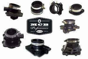 Air / Fuel - Carb Flange/ Adapter - SKI DOO - 380/550F MX Z LEGEND TOURING - INTAKE FLANGE CARB BOOT #420-8671-00