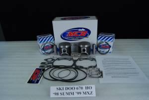 Pistons - Piston Kits - SKI-DOO  SUMMIT X / MXZ  670 HO  MCB Dual Ring Piston Kit