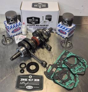 SNOWMOBILE - MCB Engine Rebuild Kits:  STAGE - 2  SKIDOO - MCB - MCB Stage-2 Crankshaft & DUAL-Ring Piston kit Ski-Doo 800 2000-2002