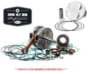 MX Crankshafts - Honda - MCB - 2008-2009 Honda CRF250R - Complete Engine Rebuild Kit Crankshaft, Forged Piston, Gasket
