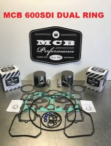 MCB Piston /Top End Kits:  STAGE -1  - SKI DOO  - Ski Doo 600 SDI (ALL YEARS) MCB DUAL RING PISTON KIT
