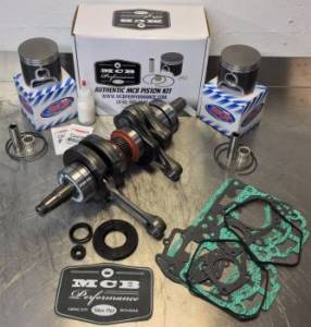 Snowmobile - MCB Engine Rebuild Kits:  STAGE - 2  SKIDOO - MCB - MCB Stage-2 Crankshaft & CUSTOM FORGED MCB DUAL-Ring Piston Kit Ski-Doo 600 2000-2002