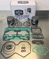 Wossner Pistons - Ski Doo 600ccc TRIPLE WossnerSingle ringFORGED Piston & Gasket Kit - Image 2