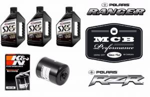 Maxima Lubricants - POLARIS RZR 900 / 1000 OIL CHANGE KIT - MAXIMA SXS 5w50 K&N KN-198