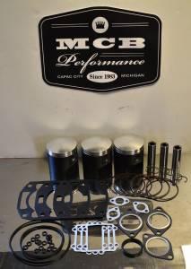 MCB Piston /Top End Kits:  STAGE -1  - ARCTIC CAT - MCB - Dual Ring Pistons - Arctic Cat 1000ccc 1998-02 Cast Piston & Gasket Kit Thundercat 1000  Mountain Cat 1000, Pantera 1000 Triples