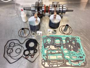 Snowmobile - MCB Engine Rebuild Kits:  STAGE - 2  SKIDOO - MCB - MCB Stage-2 DUAL RING FORGED Piston Kit Crankshaft - SKI DOO 800R XP 2007-2008