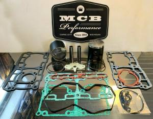 MCB Piston /Top End Kits:  STAGE -1  - SKI DOO  - MCB - Ski Doo 850cc GEN 4 ETEC MCB FORGED DUAL RING TOP END PISTON REBUILD KIT