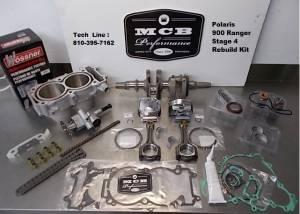 ATV/UTV Engine Rebuild Kits - Polaris - Polaris - MCB Stage 4 Polaris 1000 RANGER RNG complete engine rebuild kit, crankshaft assembly, pistons, cylinder, gaskets 2017, 2018, 2019, 2020, 2021