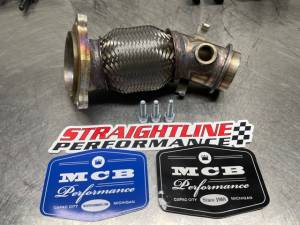 Ski Doo 900 turbo mid pipe, Turbo to muffler outlet pipe Straight Line Performance 134-195