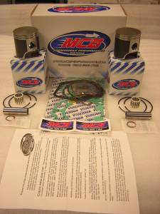 Piston Kits - MCB - MCB Dual Ring Pistons - 600 HO 2003-Current MCB Dual Ring Piston Kit