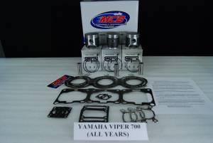MCB Piston /Top End Kits:  STAGE -1  - YAMAHA - MCB-Dual Ring Pistons - Yamaha 700cc - MCB PISTON KITS