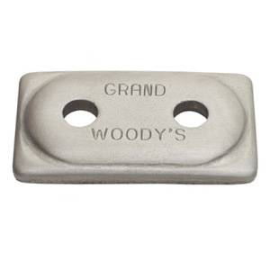 Woody's Studs, Nuts & Backers - Backers - Woody's - Double Grand Digger Aluminum for Single Ply Tracks